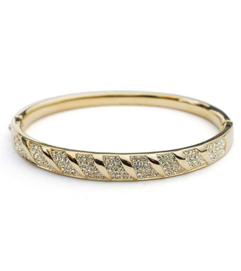Женские жесткие браслеты из золота