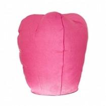 Розовый фонарик в форме овала (средний)
