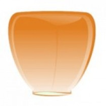 Оранжевый фонарик в форме бриллианта (средний)