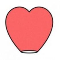 Красный фонарик в форме сердца. (бол.)