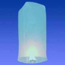 Синий фонарик в форме цилиндра (средний)