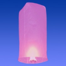 Розовый фонарик в форме цилиндра (средний)