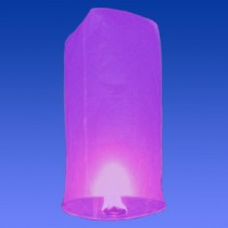 Фиолетовый фонарик в форме цилиндра (средний)