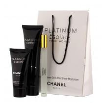"""Подарочный набор 3в1 Chanel """"Egoiste Platinum"""""""