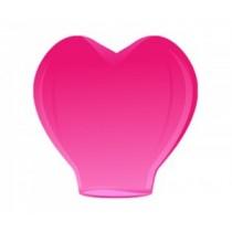 Розовый фонарик в форме сердца (мал)